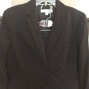 Ann Klein Navy Pin Striped Suit